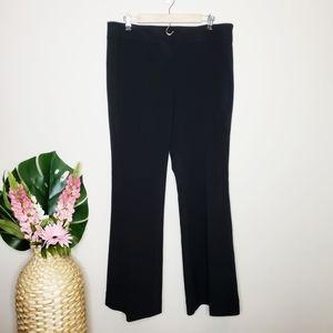 LOFT Black Classic Kate Flare Leg Dress Pa…